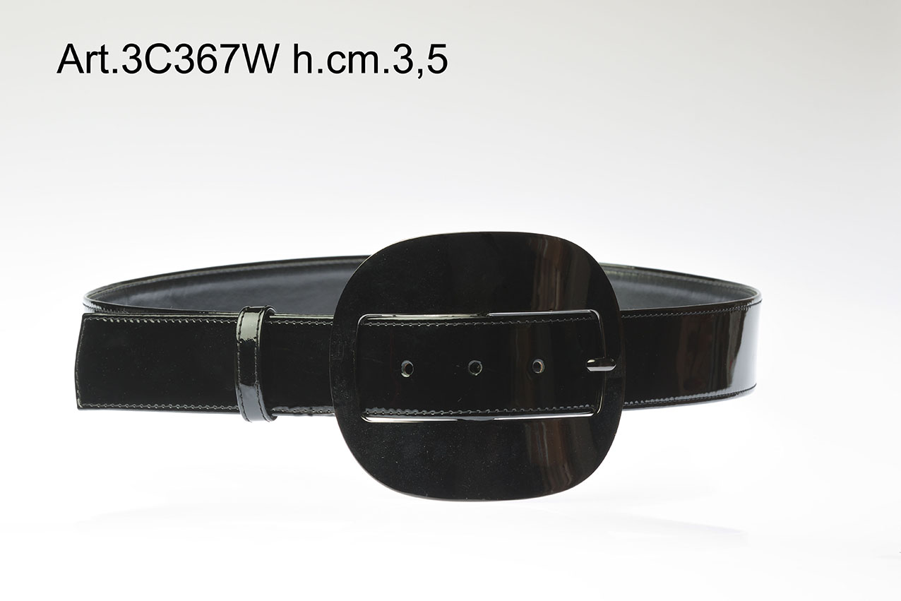 Cintura in Pelle con Fibbia Metallo h. cm3,5 Art.3C367W Image