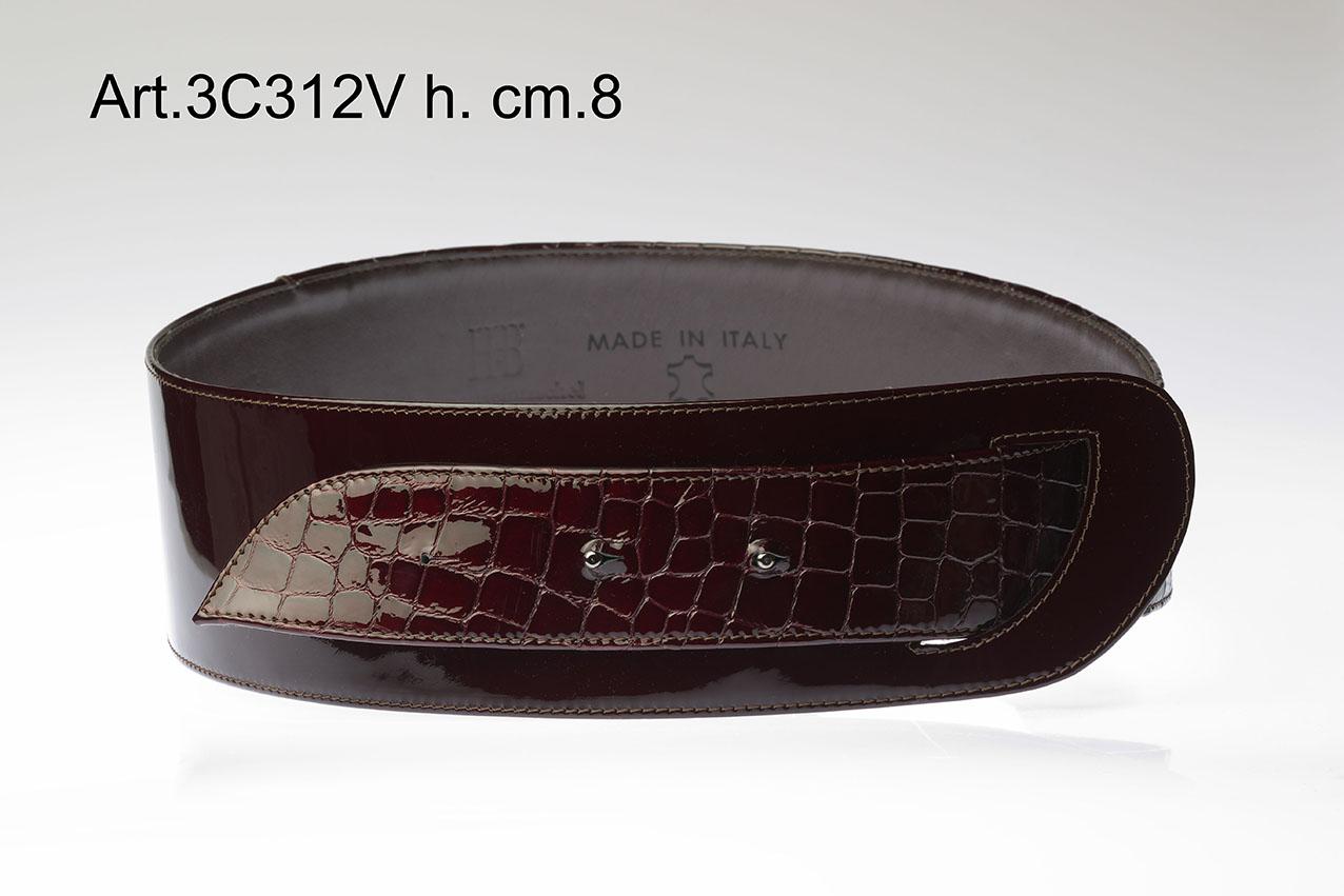 CINTURA IN PELLE STAMPATA E VERNICE ART.3C312V Image