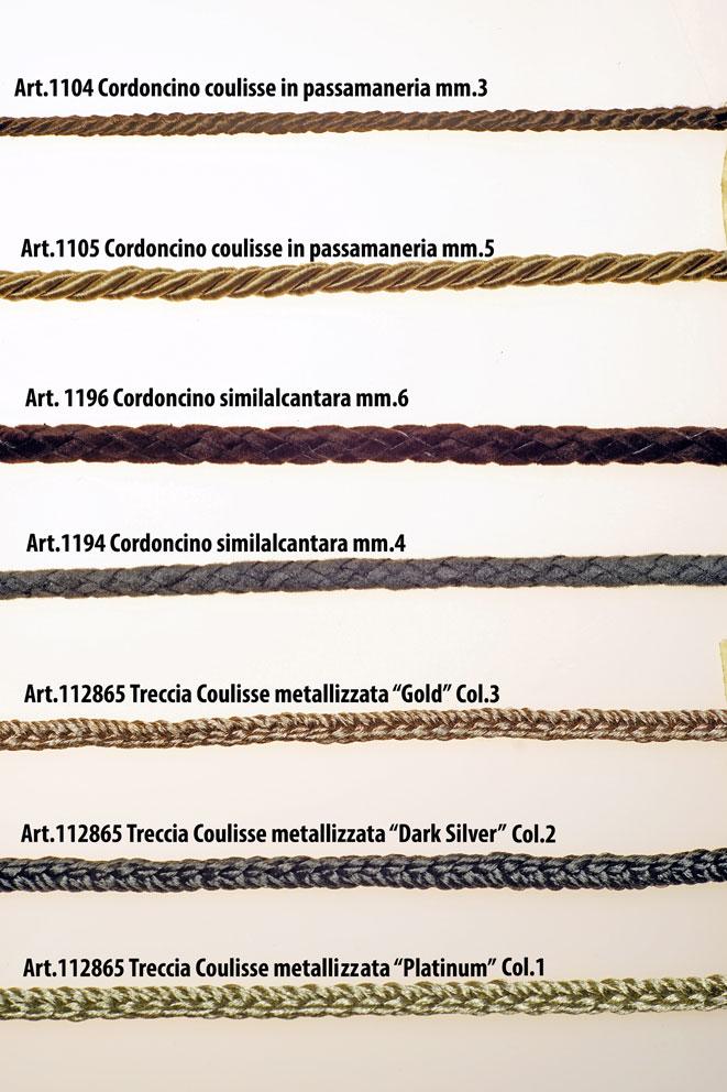 CORDONCINI PER COULISSE IN PASSAMANERIA Image