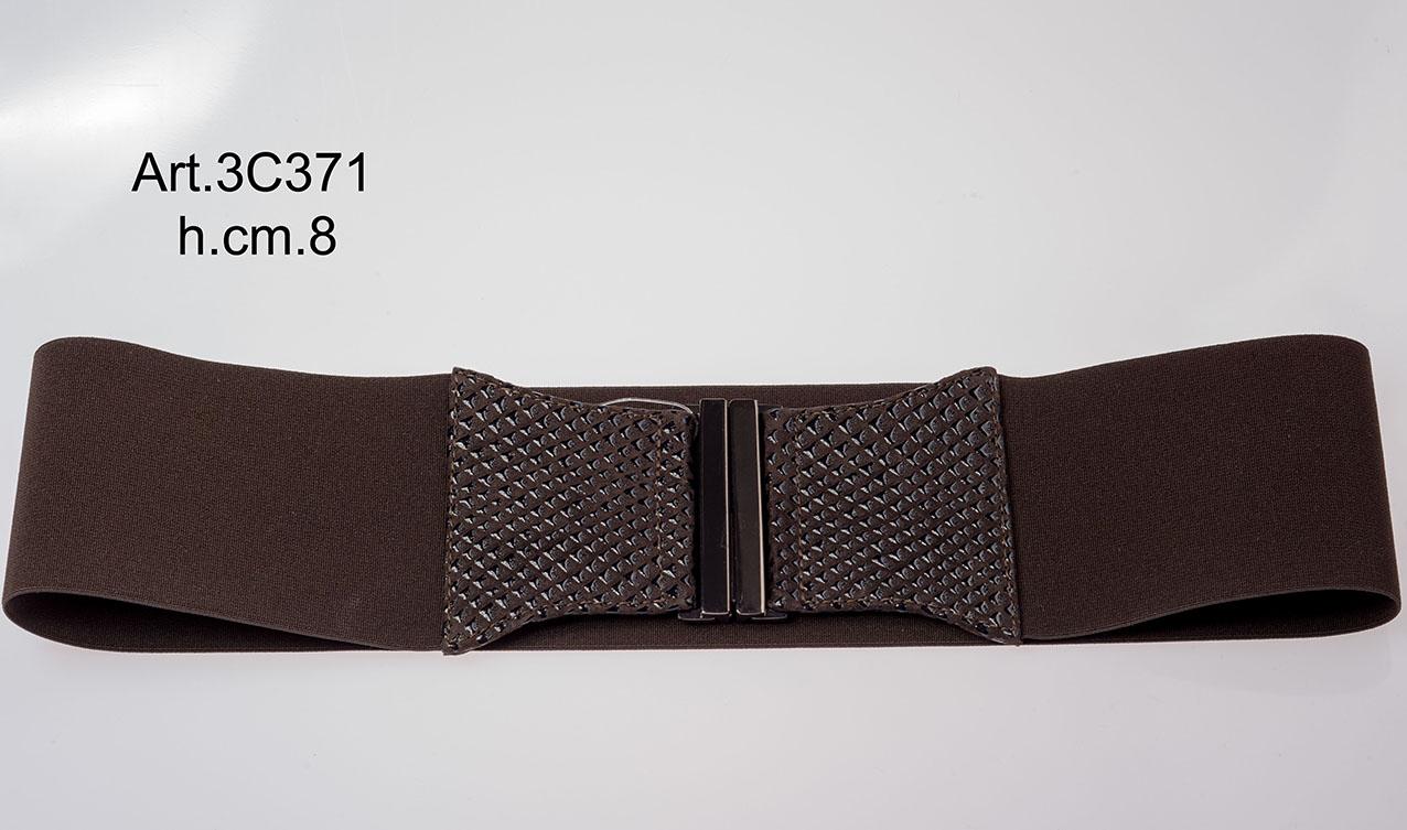Cintura in Pelle ed Elastico Art.3C371 Image