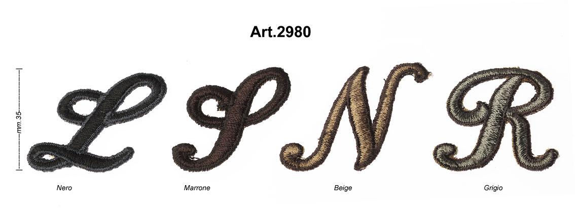 """INIZIALI RICAMATE """"TIFFANY"""" ART.2980 Image"""