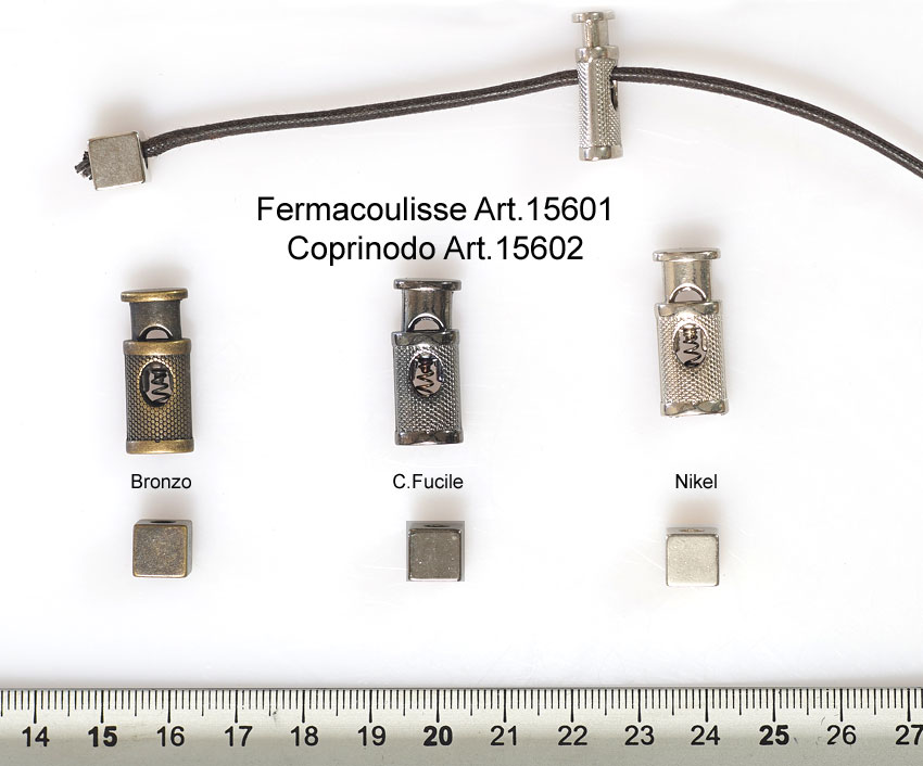 "FERMACOULISSE E COPRINODO ""FILIGRANA"" ART. 15601-15602 Image"